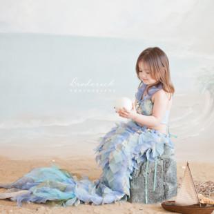 childrens mermaid portraits
